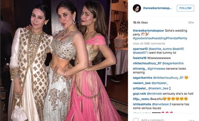 Karishma Kareena Kapoor Amrita Arora Soha Kunal Kemmu Wedding reception