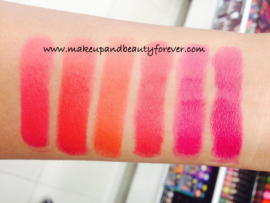 Lakme Absolute Lip Pout Victorian Rose Starlet Red Tangerine Touch Raving Red Pink Fantasy Magenta Magic
