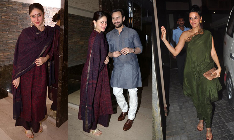 Neha Dhupia Kareena Kapoor Saif at Soha Wedding Mehendi