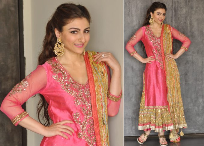 Soha Ali Khan Mehendi Ceremony outfit by Ritu Kumar
