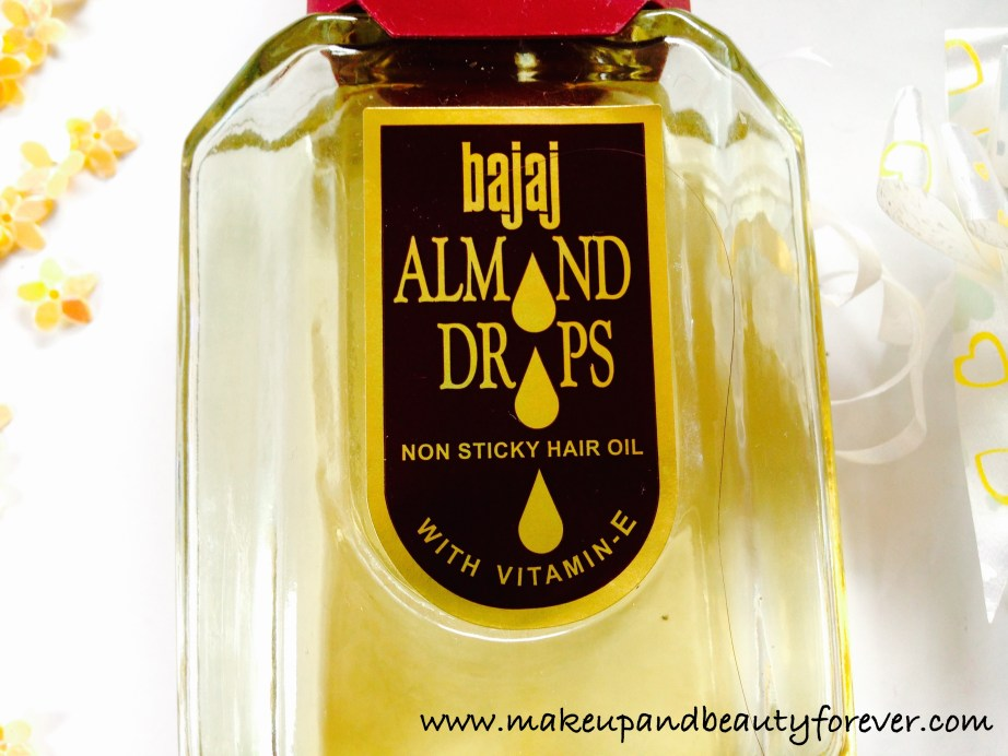 Bajaj Almond Drops Non Sticky Hair Oil with Vitamin E Review MBF India