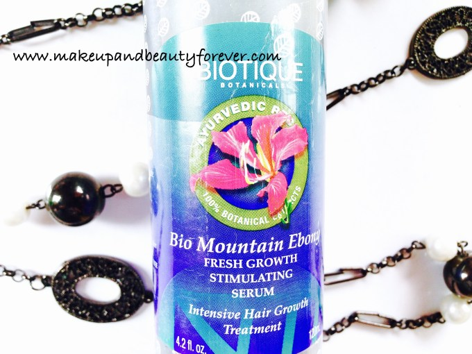 Biotique Bio Mountain Ebony Fresh Growth Stimulating Hair Serum Review Ingredients