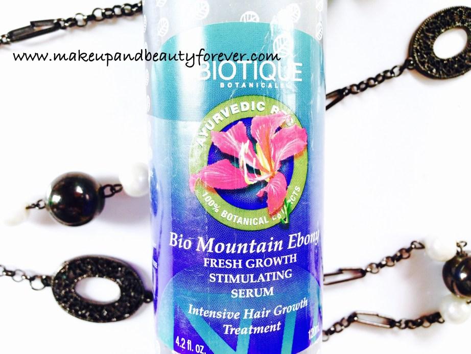 Biotique Bio Mountain Ebony Fresh Growth Stimulating Hair Serum Review Ingredients