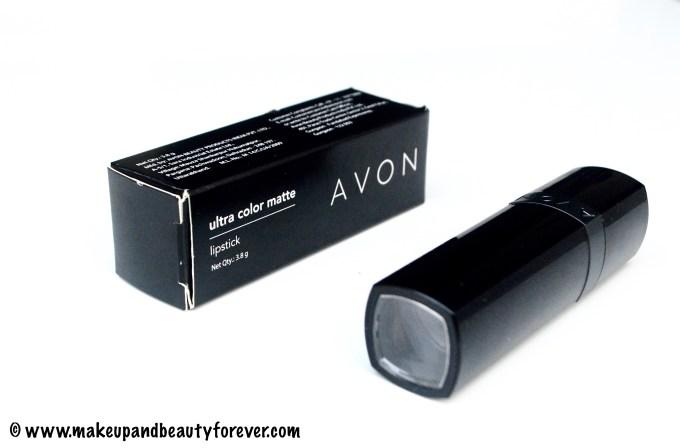 Avon Ultra Color Matte Lipstick Matte Merlot Review Swatches FOTD Indian Blog