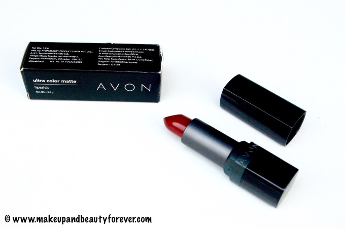 Avon Ultra Color Matte Lipstick Matte Merlot Review Swatches FOTD by Makeupandbeauty Forever MBF