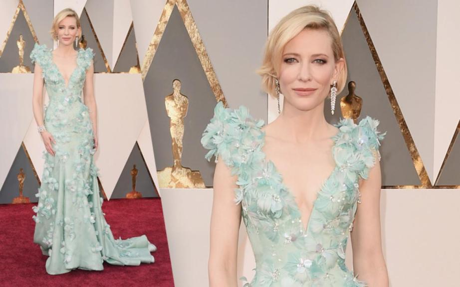 Cate Blanchette Oscars 2016 best Floral Dress Armani
