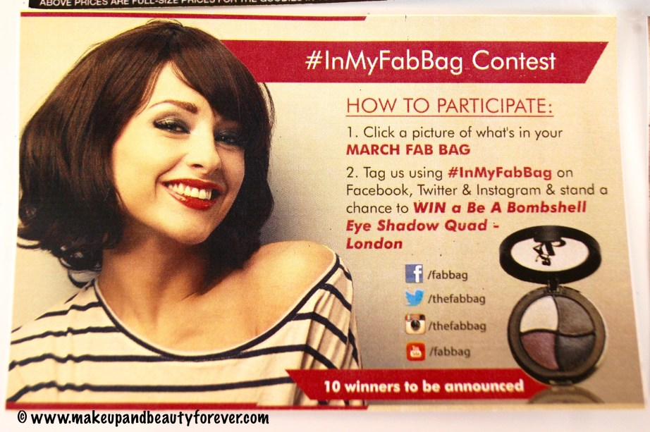Fab Bag March 2016 - More Power To You #InMyFabBag