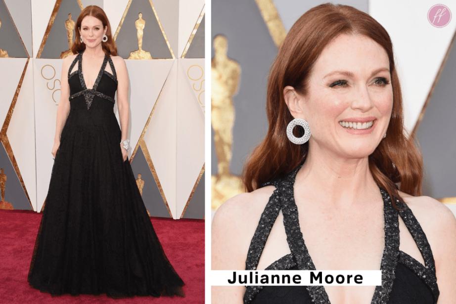 Julianna Moore Oscar Chanel dress 2016