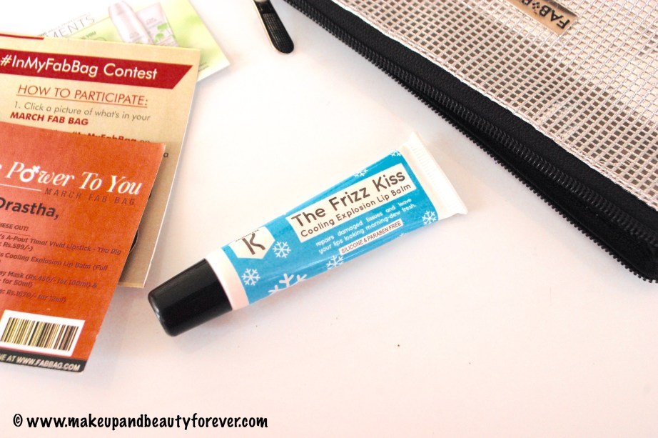 Kronkare The Frizz Kiss Cooling Explosion Lip Balm MBF