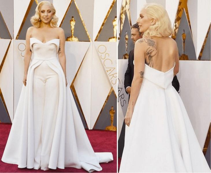 Lady Gaga Brandon Maxwell dress oscars 2016 best dressed