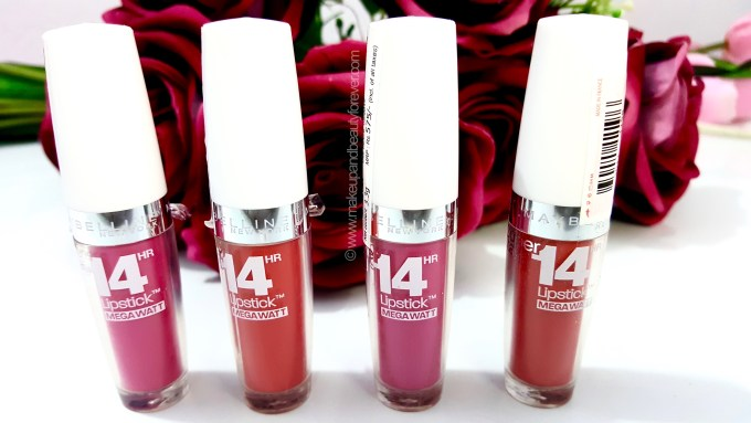 All Maybelline Superstay 14H Megawatt Lipstick Review, Shades, Swatches, Price and Details