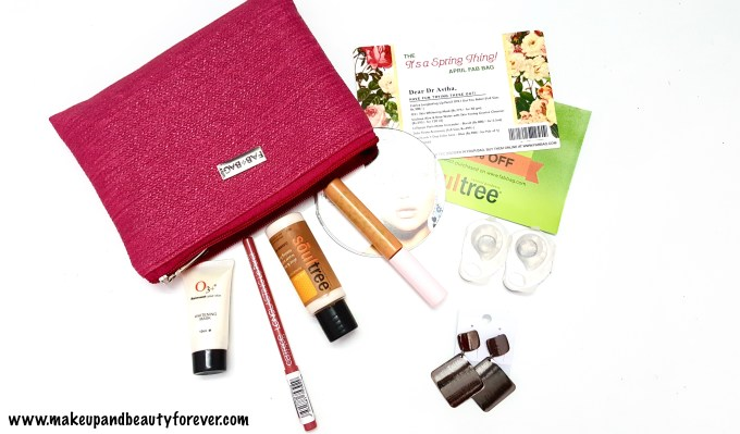 April Fab Bag 2016 - Its a Spring Thing India Makeupandbeauty forever MBF