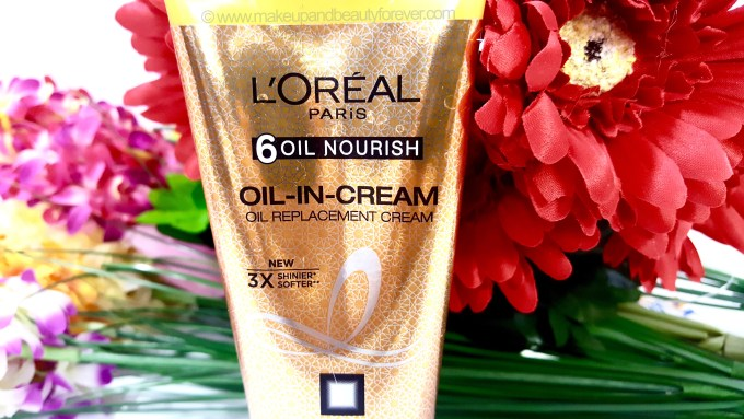LOreal Paris Hair Expertise 6 Oil Nourish Oil in Cream Oil Replacement Cream Review Indian Makeup and Beauty Blog