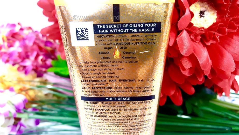LOreal Paris Hair Expertise 6 Oil Nourish Oil in Cream Oil Replacement Cream Review Usage