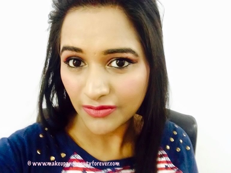 Sugar Cosmetics It's A-Pout Time Vivid Lipstick 02 Breaking Bare Review, Swatches, FOTD Astha MBF Astha Goel Astha Bansal
