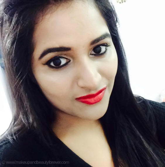 Colorbar Deep Matte Lip Crème Deep Red 001 Review Astha MBF Goel