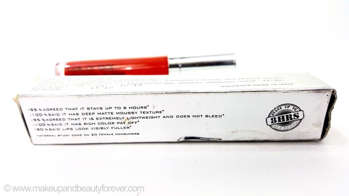 Colorbar Deep Matte Lip Crème Deep Red 001 Review Beauty Blog