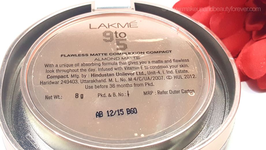 Lakme 9 to 5 Flawless Matte Complexion Compact Review Shades Almond Melon Apricot India