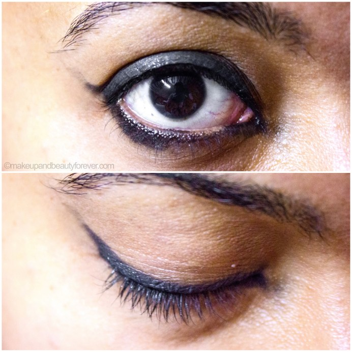 MAC Black Tied Eyeshadow Review Swatch EOTD on eyes photo image