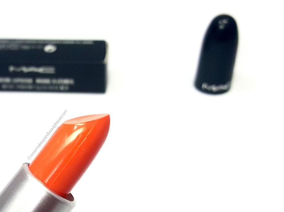 MAC Morange Amplified Creme Lipstick Review Swatches Photos