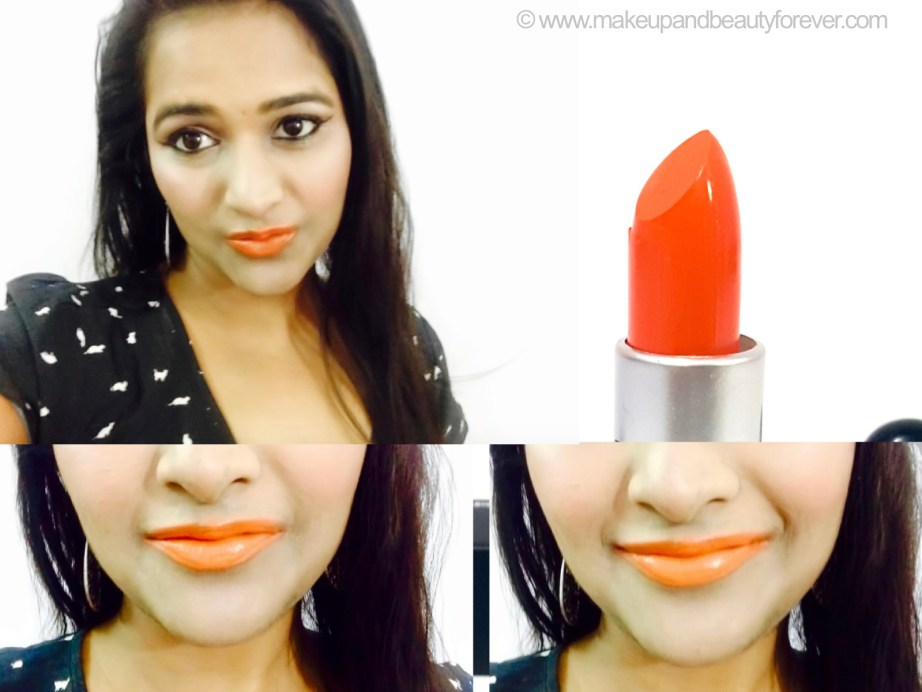 MAC Morange Amplified Lipstick Review Swatches Photos