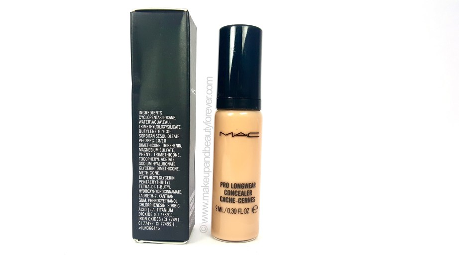MAC Pro Longwear Concealer Review Swatches details