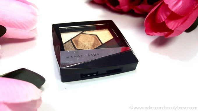 Maybelline Color Sensational Diamonds EyeShadow Palette Topaz Gold Review Swatches MBF