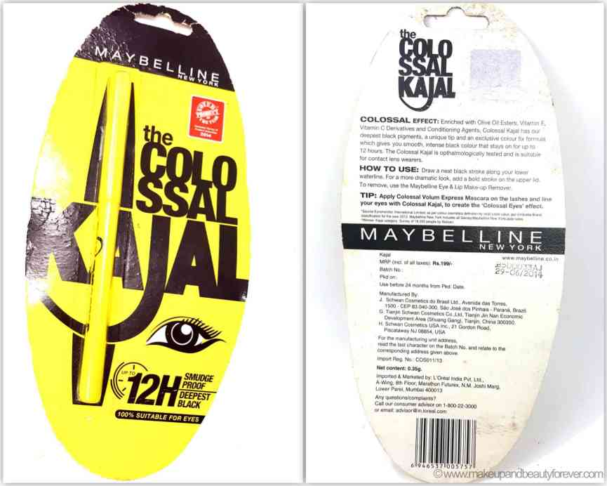 New Maybelline Colossal Kajal 12 Hour Formula Review