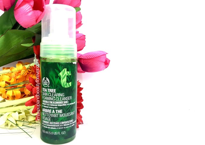 The Body Shop Tea Tree Skin Clearing Foaming Cleanser Review