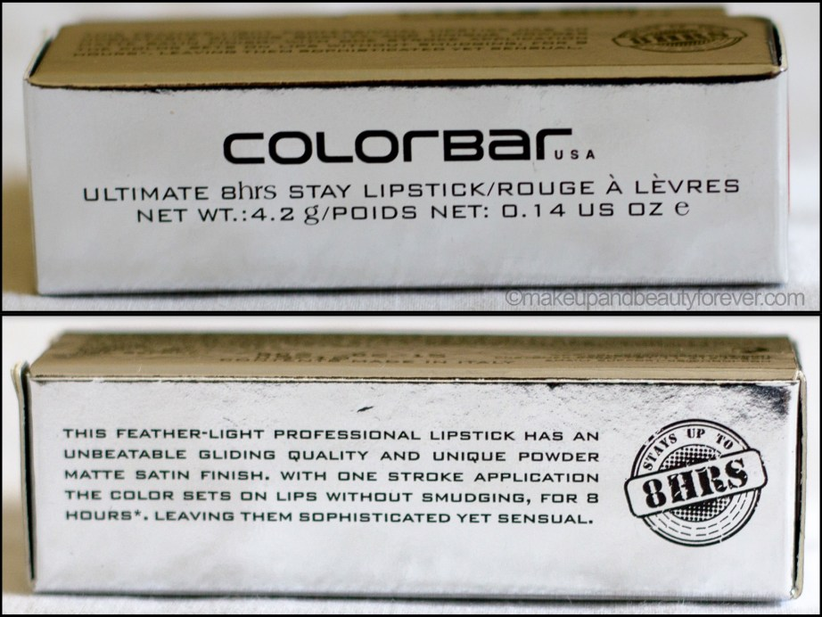 Colorbar Ultimate 8 Hour Stay Lipstick Burn it Down Review Indian Makeup Beauty Blog