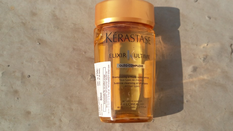 Keratase Elixir K Ultime Sublime Cleansing oil Shampoo Review