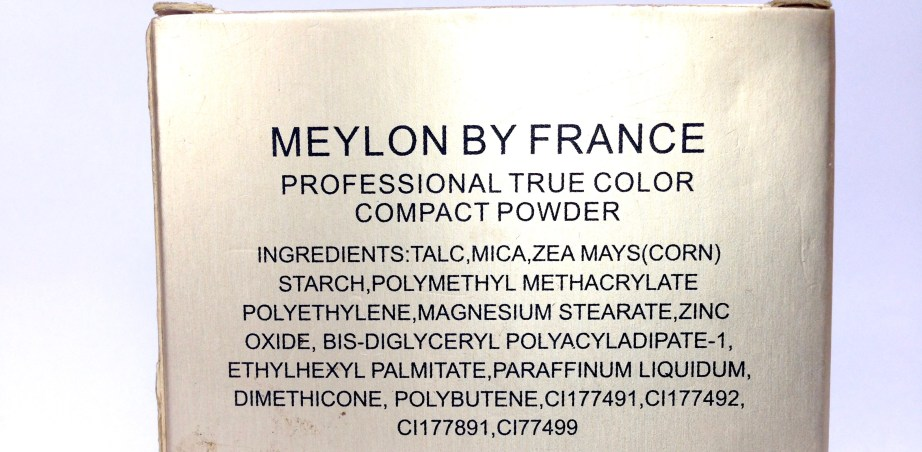 Meylon Paris Compact Powder Review ingredients