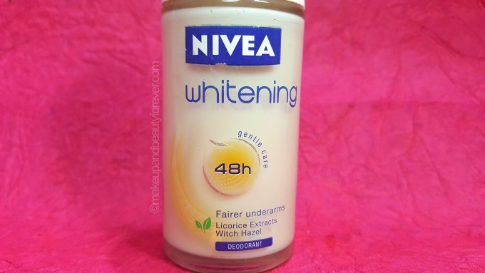 Nivea Whitening 48 Fairer Underarms Deodorant Roll On Review