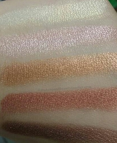 Sivanna Shinning Star Shimmer Brick Review Swatches 2