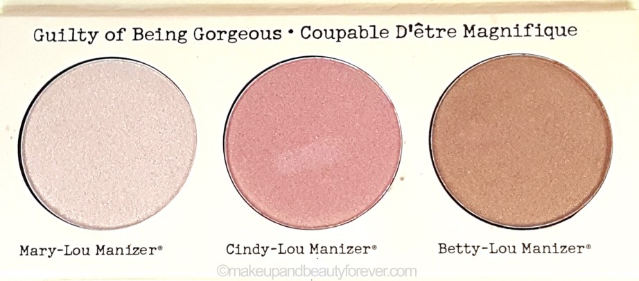 theBalm Manizer Sisters Mary Cindy Betty Lou Manizer Palette Review normal light