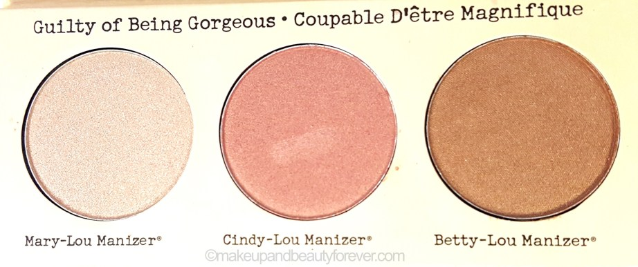 theBalm Manizer Sisters Mary Cindy Betty Lou Manizer Palette Review warm light