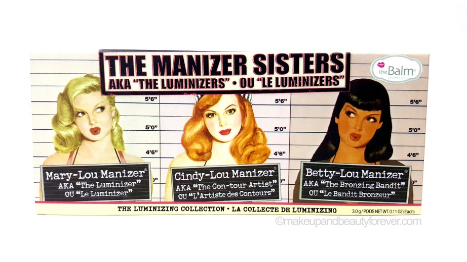 theBalm Manizer Sisters Mary Cindy Betty Lou Manizer Palette Review