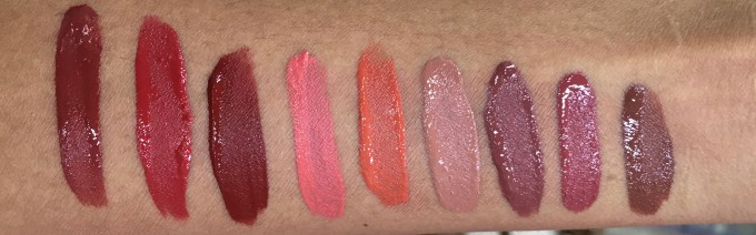 All Chambor liquid Lipstick swatches mbf Retro Rouge 434 Oh My Rouge 435 Savage 436 Rouge Grenadine 461 Orangerie 462 Brune Jungle 481 Coffee Date 482 Rose Boudoir 483 Truffle 484