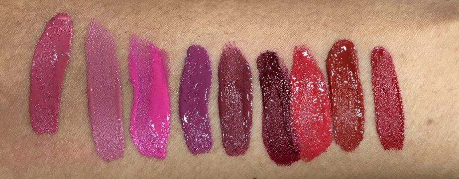 All Chambor shades swatches Rosemantic 401 Effortless Pink 402 Diva 403 Fall in Rose 404 Trendy Mauve 405 Nocturne 406 Fiery Red 431 Red Haute 432 Desire 433