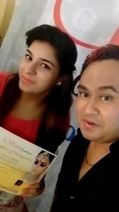 An Experience of Rohit Singh's Advance Makeup Class Gunjan Taneja with Rohit Singh