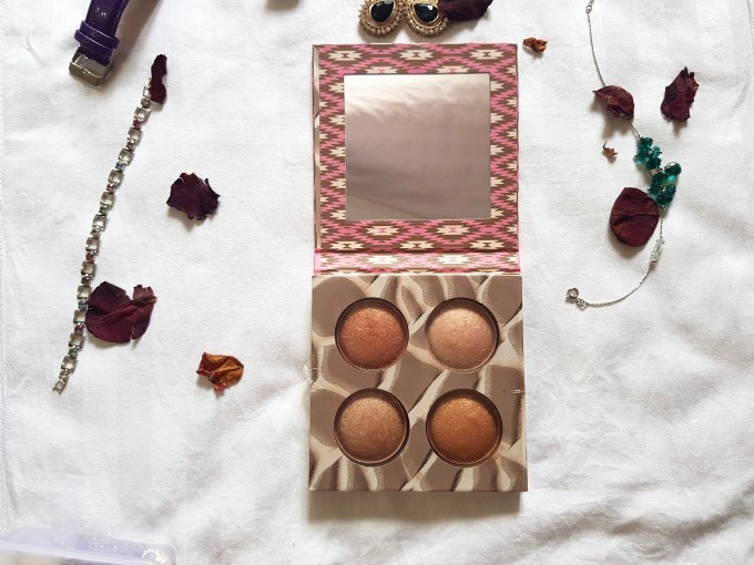 Bh Cosmetics Wild Radiant baked illuminating and bronzing Palette Review Swatches