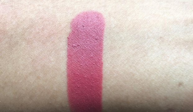 Colorbar Velvet Matte Lipstick Over The Top 1 Review Swatches on hand