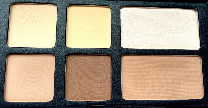 Freedom Pro Strobe Highlight and Contour Palette With Brush Review Swatches shades