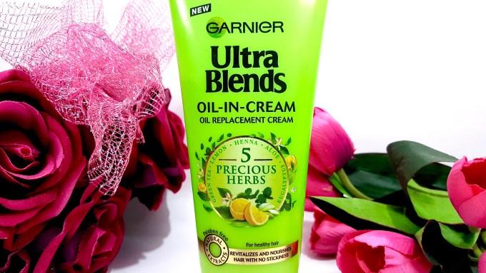 Garnier Ultra Blends 5 Precious Herbs Oil In Cream Oil Replacement Cream Review mbf blog