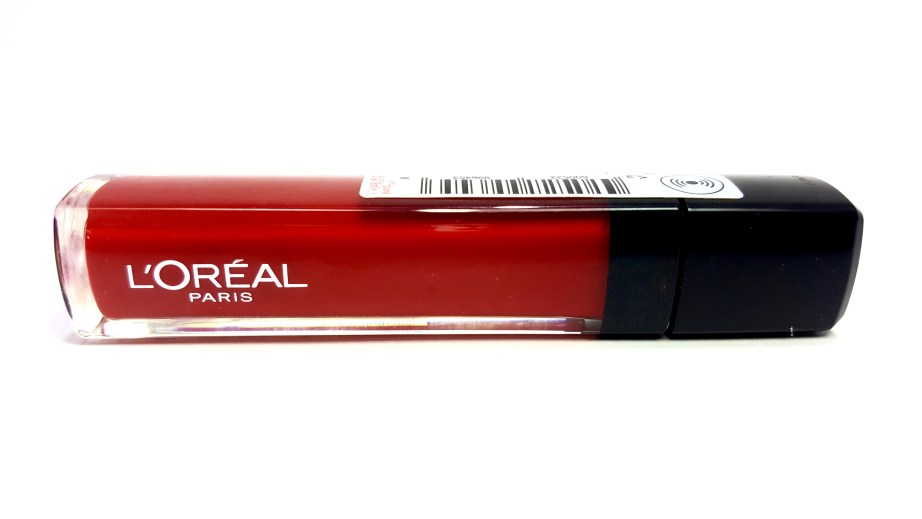 L'Oreal Infallible Mega Gloss 106 Alerte Rouge Review Swatch
