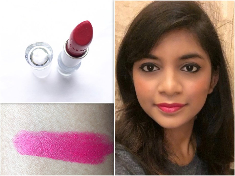 Lakme Enrich Matte Lipstick PM 11 Review Swatches FOTD