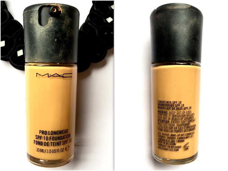 MAC Pro Longwear Foundation Review Swatches FOTD mbf beauty blog