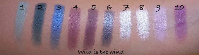 Makeup Revolution I ♡ MAKEUP I ♡ OBSESSION Eye Shadow Palette Wild is the Wind shades Review Swatches