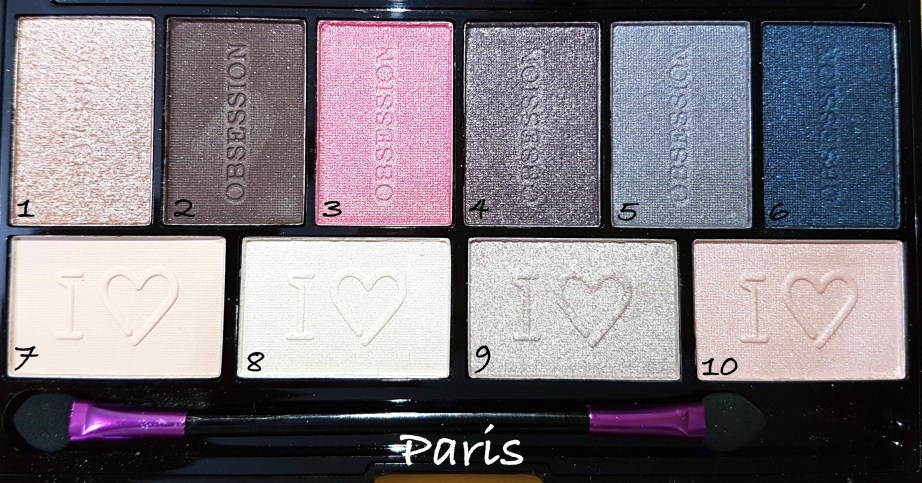 Makeup Revolution I ♡ MAKEUP I ♡ OBSESSION Eye Shadow Palettes - Paris Review Swatches