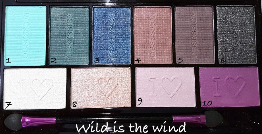 Makeup Revolution I ♡ MAKEUP I ♡ OBSESSION Eye Shadow Palettes - Wild is the Wind Review Swatches